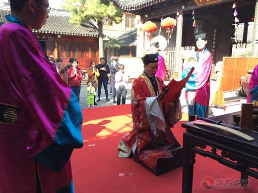 """苏州城隍庙举行了""""慈航道人出家成道日""""纪念法会"""