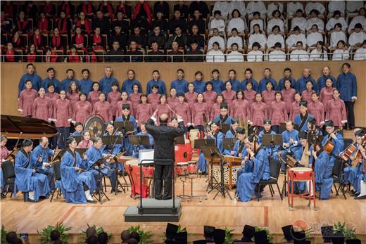 上海城隍庙道乐团参加上海宗教界庆祝改革开放40周年音乐会