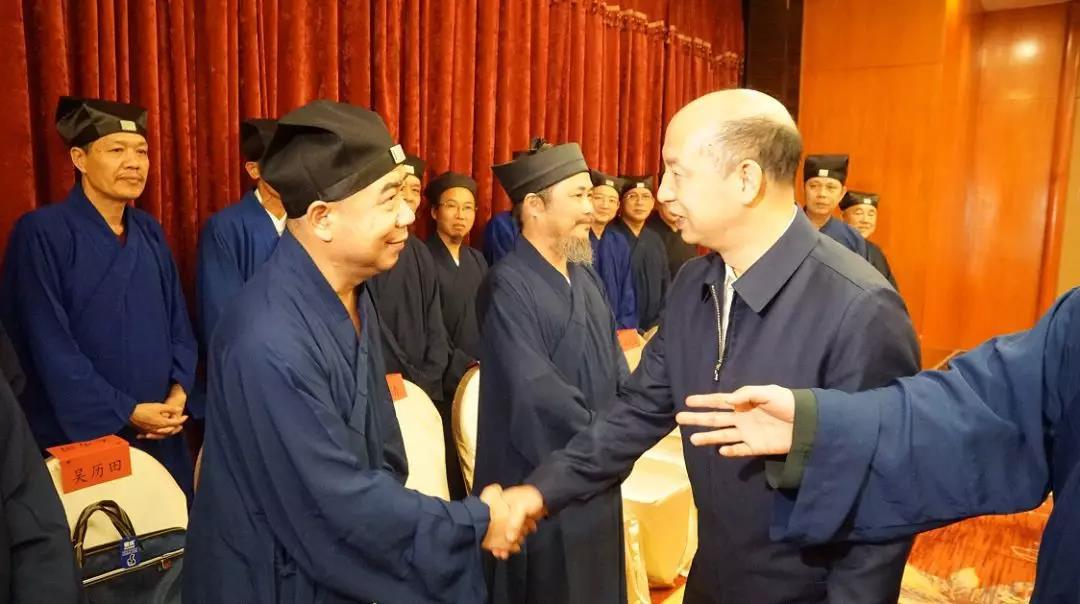 福建省统战部长见道协新一届领导班子