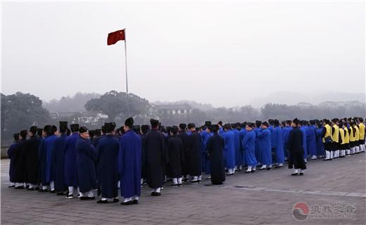 戊戌(2018)年内地正一派道士初授箓举行升旗等活动