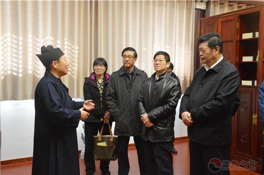 江苏省政协副主席周继业考察茅山乾元观