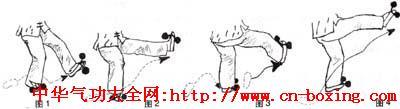 戳脚——文趟子拳的技击腿法及腿功训练_技击-连环-功法-右腿-