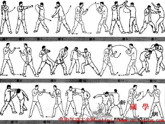 鞭拳练用十二法_左臂-面部-向右-用法-
