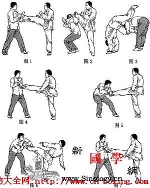 散打抱腿巧摔技法_弓步-上体-散打-右腿-
