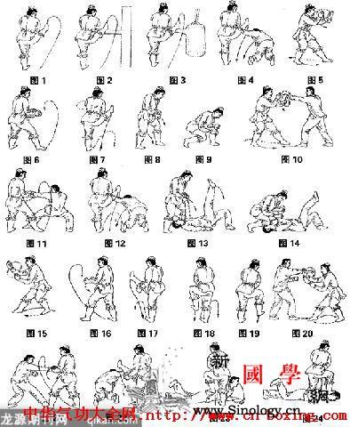 腿劈截肘实用防身制敌法教学_肘关节-目视-右腿-右脚-