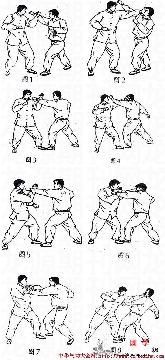 掌法搏击技术_右腿-击打-向我-左脚-