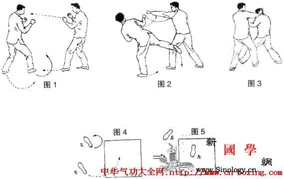 民间散手——小旋风腿_转体-右腿-跳转-右脚-