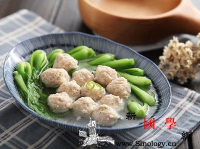 青菜肉丸汤_肉糜-肉丸-料酒-香油-
