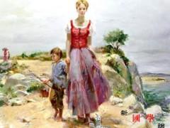 油画:行路的女人 ()