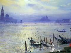 油画:威尼斯的清晨 ()