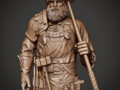 船长的锤子雕塑 ()