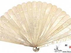 贝壳雕琢的扇子 ()